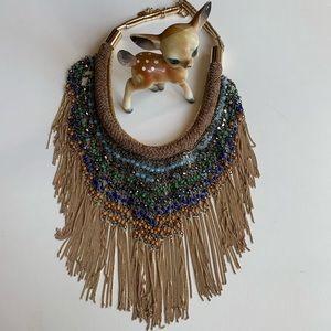 Beautiful Zara fringe and colorful neck piece